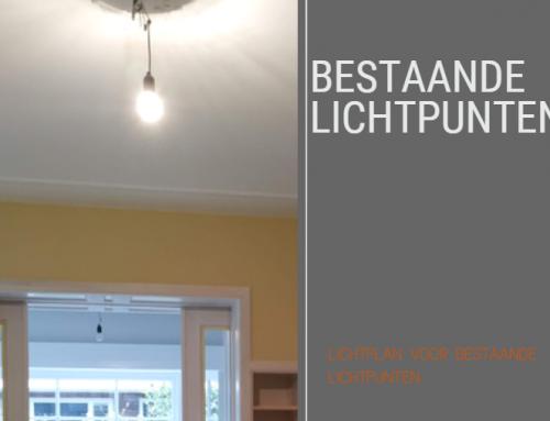 Lichtplan met bestaande lichtpunten