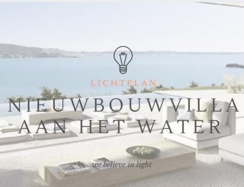 Compleet lichtplan voor nieuwbouwvilla aan het water